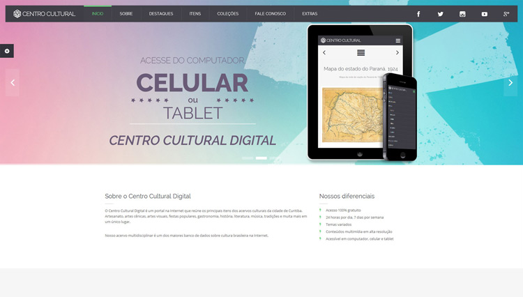 Layout Centro Cultural Digital